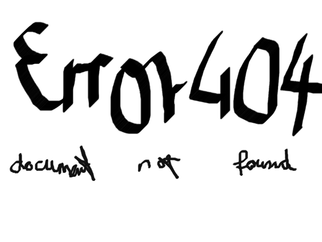 404 document not found
